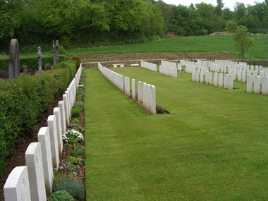 Mesnil communal cemetery extension #3/3